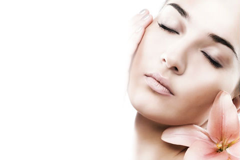 face treated with injectable fillers